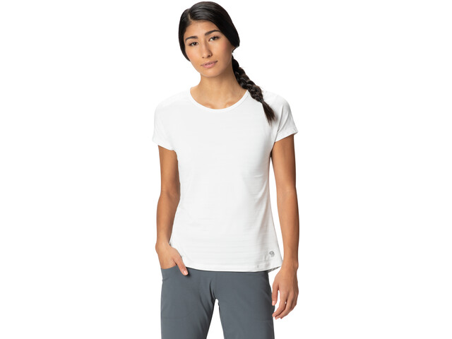 Mountain Hardwear Mighty Stripe Camiseta Manga Corta Mujer, fogbank